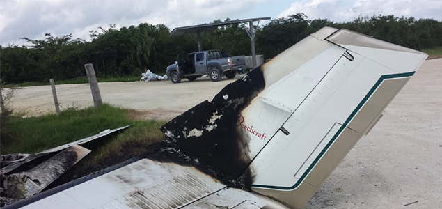 Burned Airplane Found in The Belize Mexico Border
