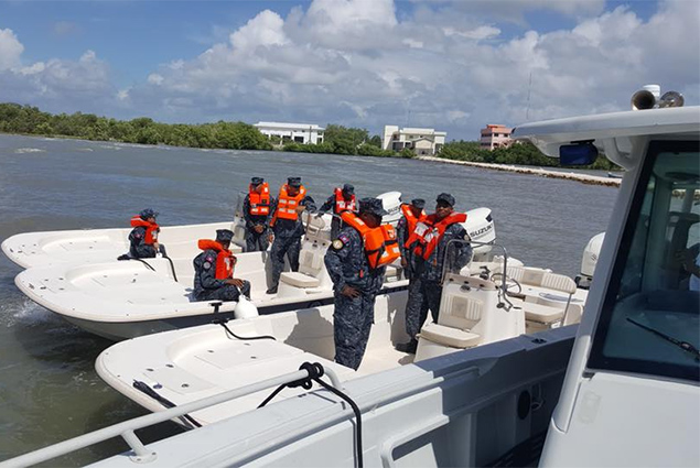 US Government Hands Over Counter-Narcotics Equipment to Belize Coast Guard