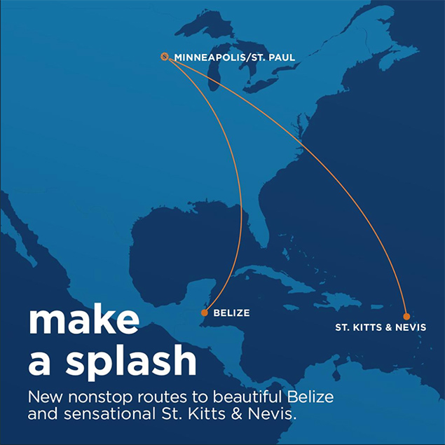Belize Celebrates First-Ever Nonstop Flights from Minneapolis/St. Paul via Sun Country Airlines