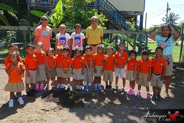 SPTC Plants Mahogany Trees at Schools