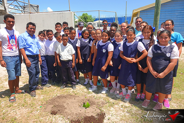 SPTC Plants Mahogany Trees at Schools