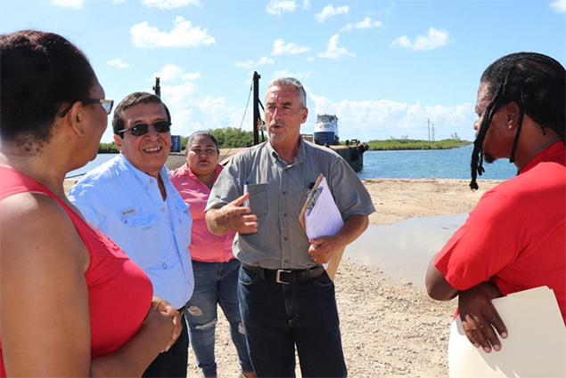 Ports Minister Visits Ambergris Caye Barge Berthing Facility To Be Developed
