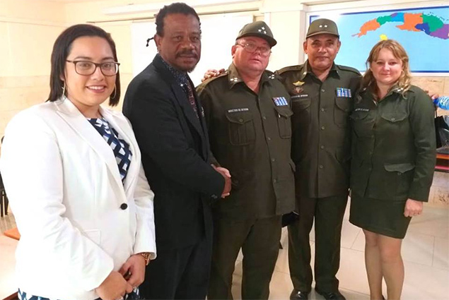 Hon. Edmond Castro Attends Firefighting Graduation in Cuba