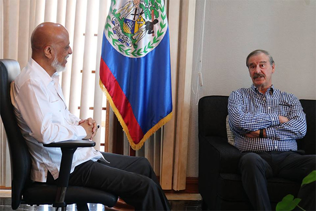 Former Mexican President Vicente Fox Visits Belize