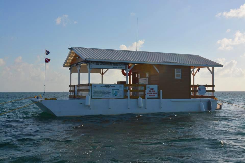 Hol Chan Marine Reserve Installs Pontoon Station