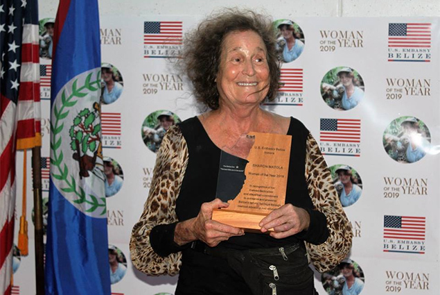 "U.S. Embassy Celebrates Ms. Sharon Matola - ""Woman of the Year 2019"""