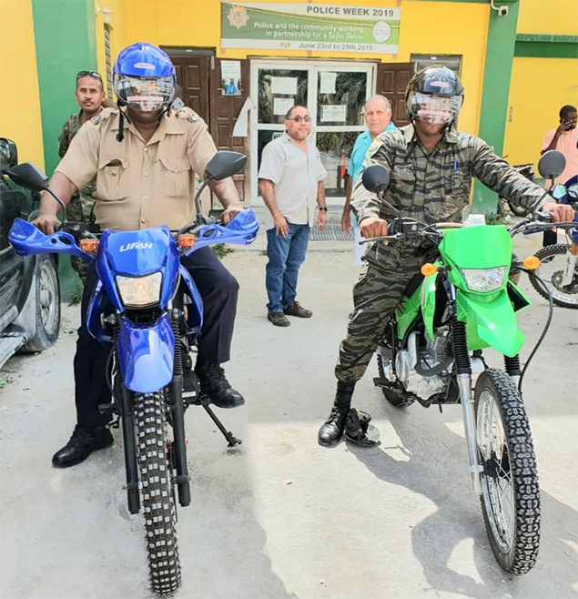 SP Police Department Receive Motorcycle Donation