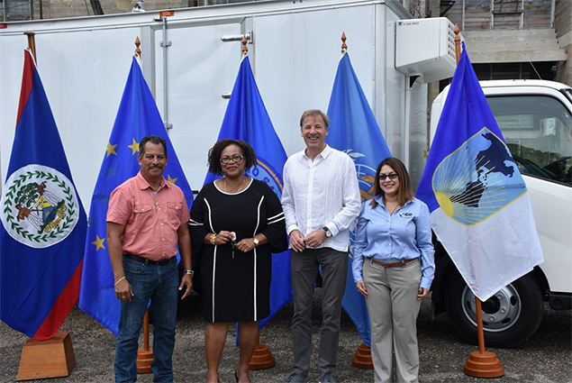 Pick Up Trucks Donated to Belize Ministry of Health