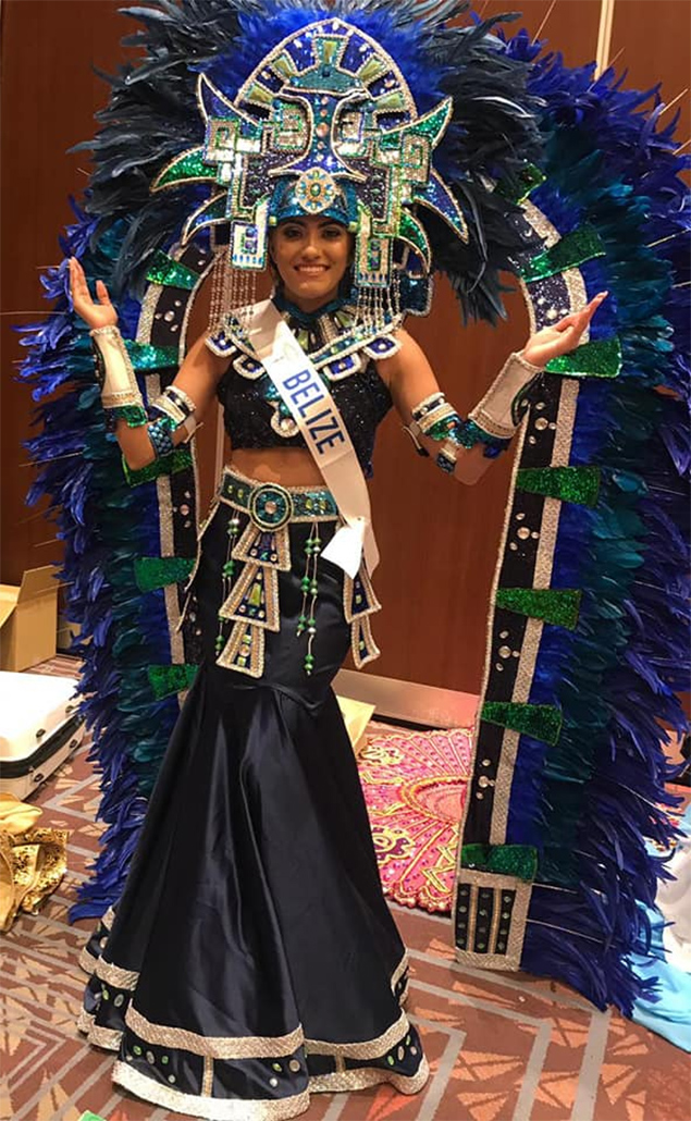 Miss Belize – Selena Urias wins Miss International Purple Ribbon Award