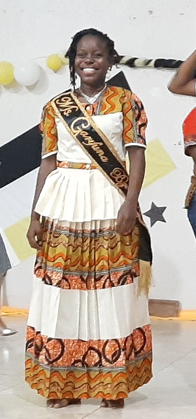 Deveene Martinezis Ms. Garifuna Belize 2019-2020
