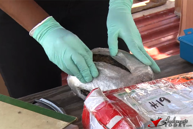 San Pedro Police Destroys over 100Kilos of Drugs
