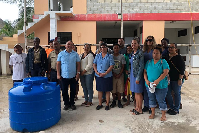PUP BRS Representative Andre Perez Donates Rotoplas Tanks to Caye Caulker