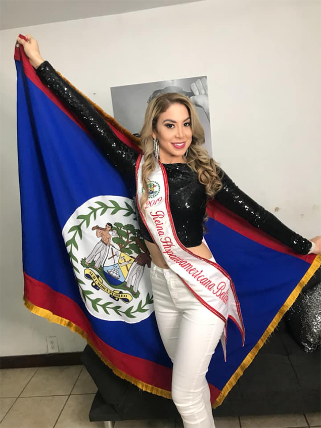 Gabriela is Miss Belize in Reina Hispanoamericana