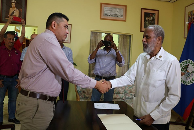 Hon. Hugo Patt Sworn in as Deputy Prime Minister
