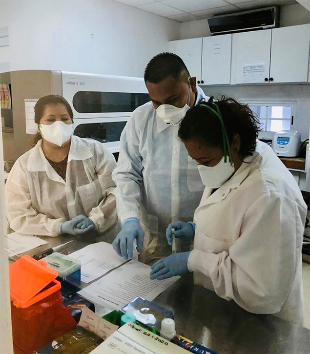 Belize Ministry of Health Officers Trained in Mexico for Coronavirus Testing