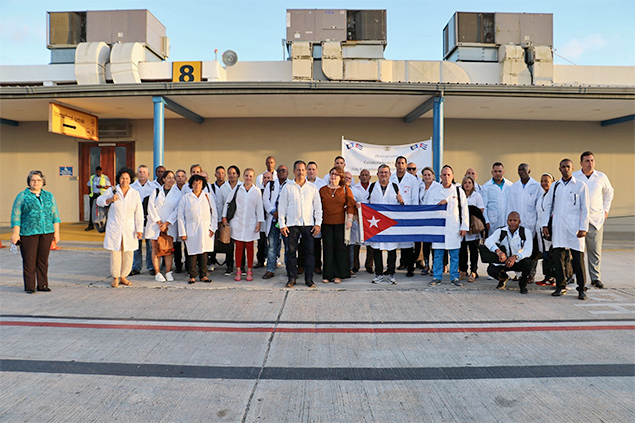 Cuban Medical Professionals Arrive to Help Belize Fight COVID-19