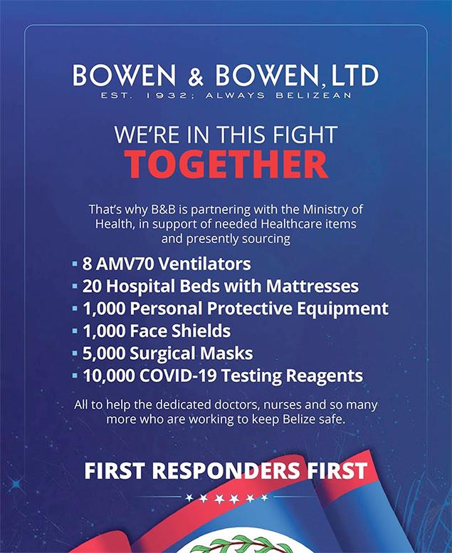 Bowen & Bowen Makes Major Donation to Ministry of Health