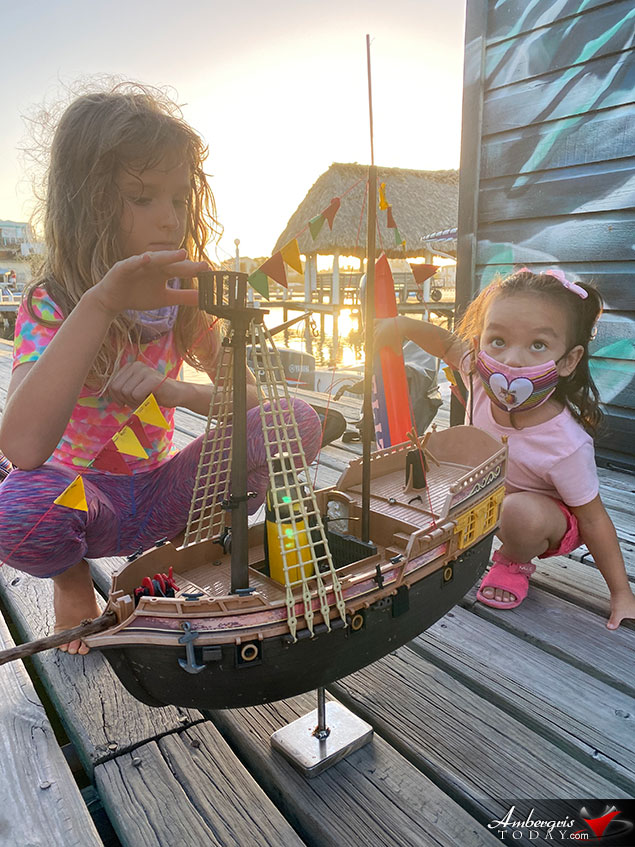 Record Breaking Toy Pirate Ship Sails the High Seas to Belize