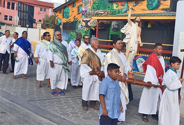 San Pedro Celebrates the resurrection of Jesus Christ