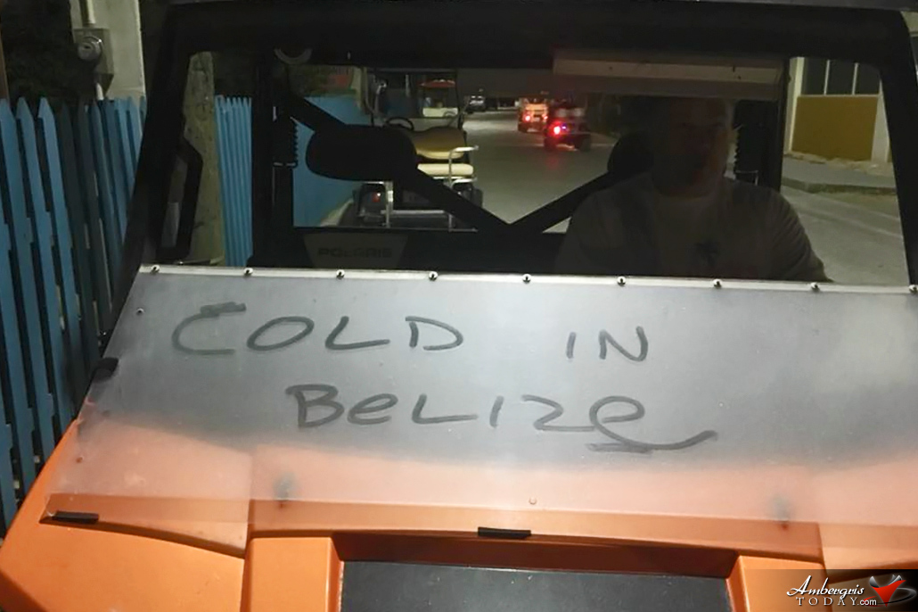 Cold in Belize Pic of the Week