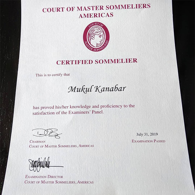 Mukul Kanabar – Belize's 1st Certified Sommelier