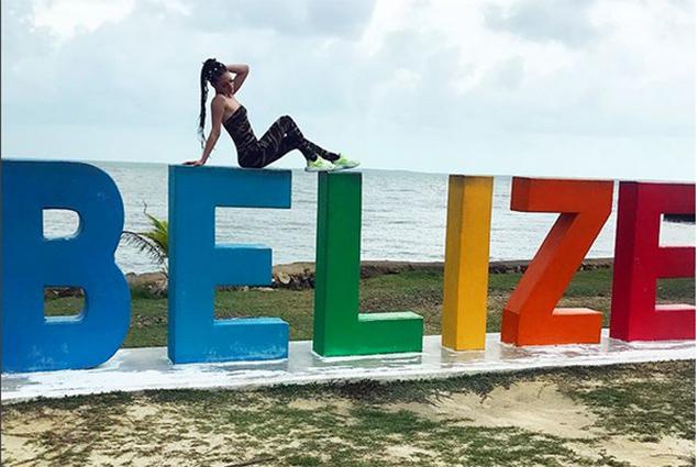 Samantha J Enjoying San Pedro, Belize