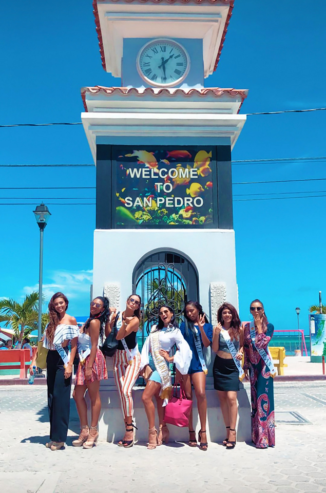 Costa Maya Pageant Delegates Enjoy Island Charm in San Pedro