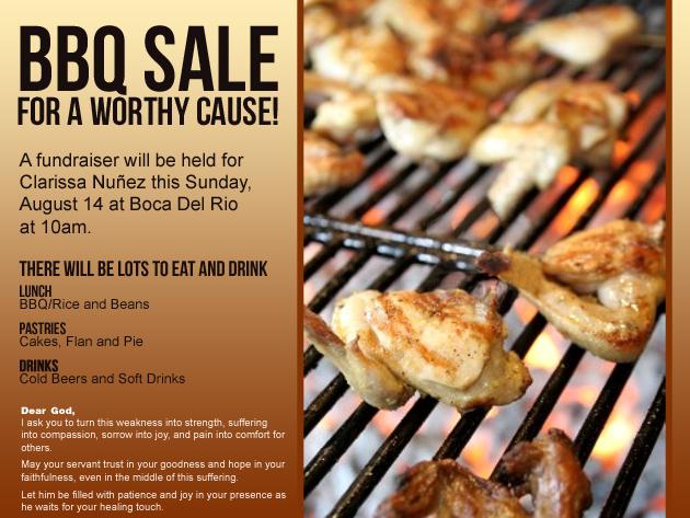 BBQ Sale Fundraiser For Clarissa Nuñez