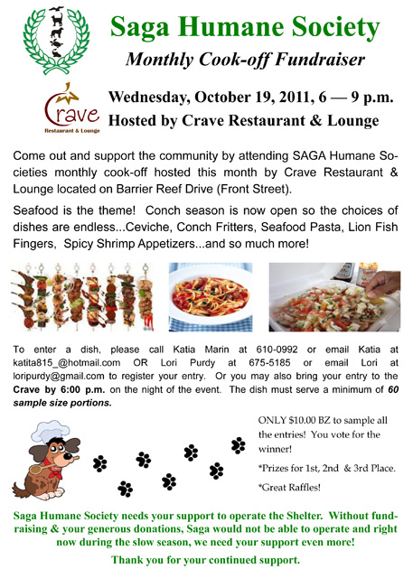 October Saga Cook Off