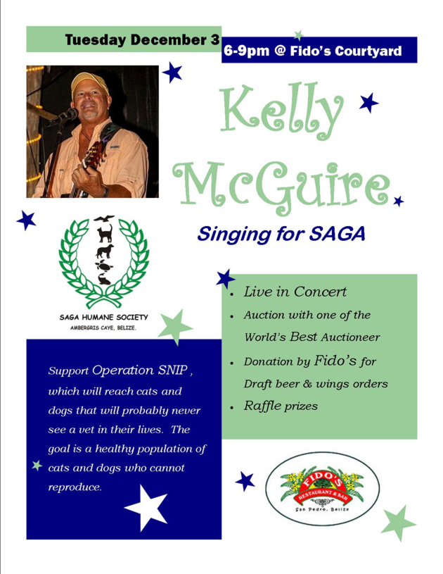 Kelly McGuire Singing for SAGA!!!