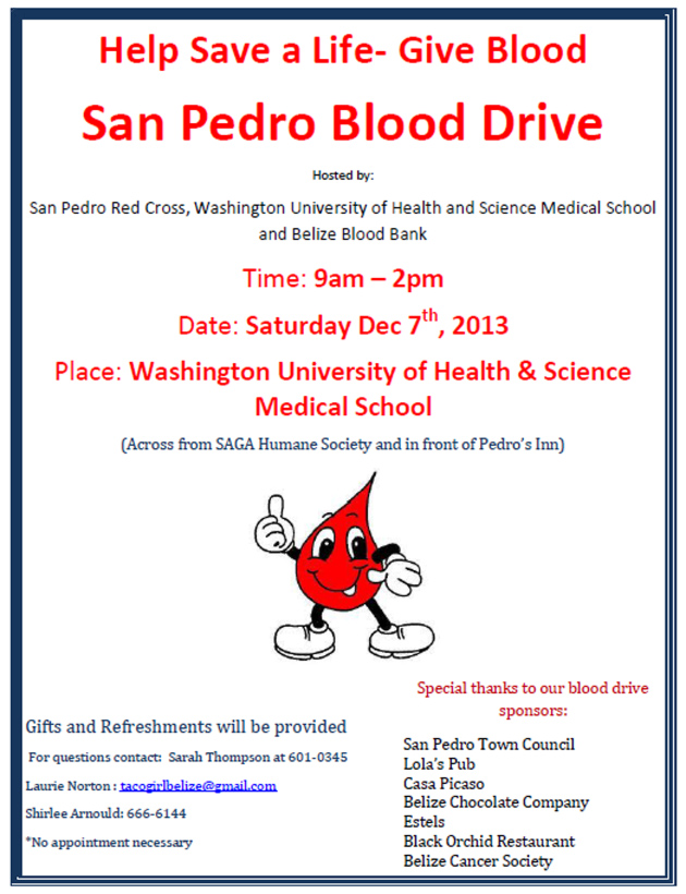 Help Save A Life – Give Blood - San Pedro Blood Drive