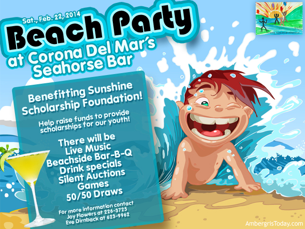Sunshine Scholarship Foundation Beach Party at Corona Del Mar's Seahorse bar