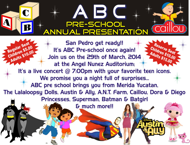 ABC Pre-School Annual Spectacular Presentation