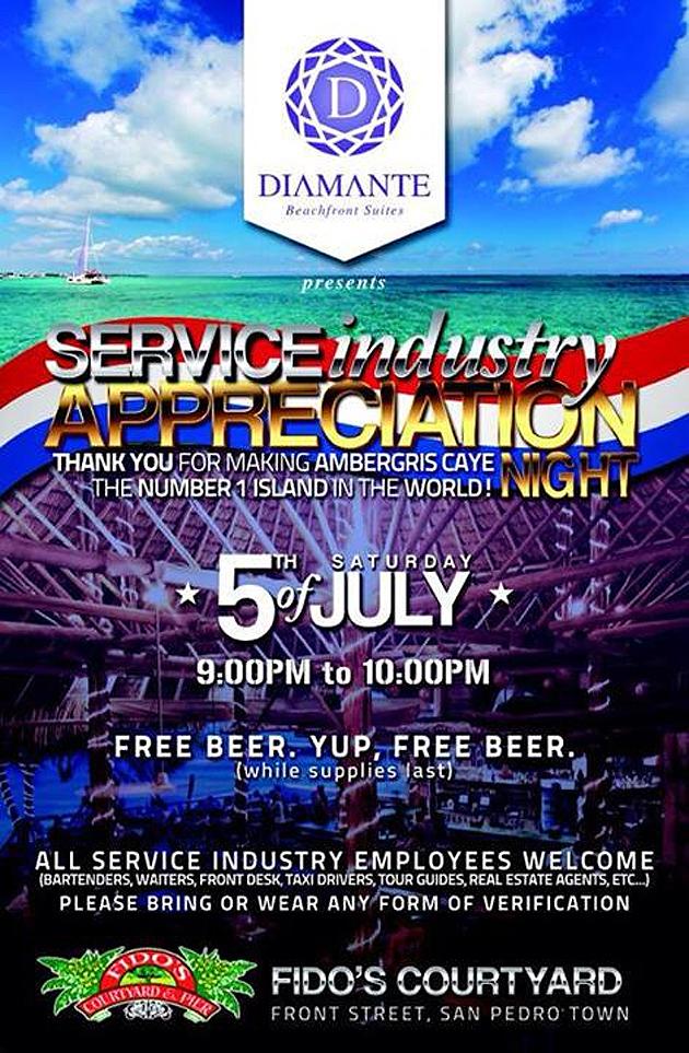 Diamante Belize Hosts Service Industry Appreciation Night
