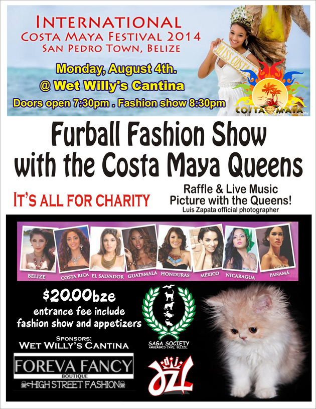 Saga's Furball Fashion Show with the Costa Maya Queens