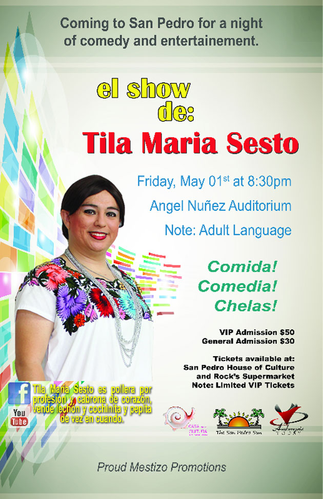 Tila Maria Comes to San Pedro for Night of Comedy and Entertainment.