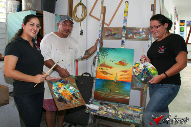 Dorian's Angels at Papo's Art Gallery!