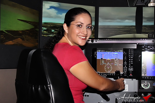 Dorian's Angels Test Out Tropic Air's New Flight Simulator