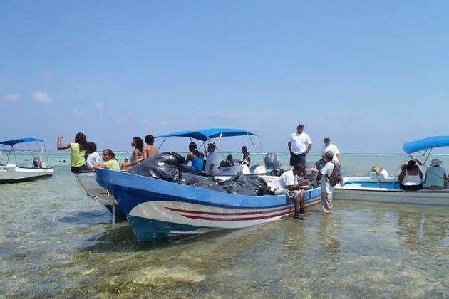 Reef Week Cleanup Efforts North Ambergris Caye