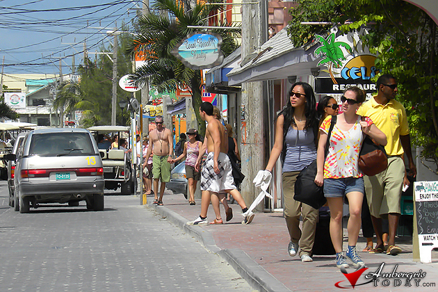 Busy Streets of San Pedro Town, Ambergris Caye