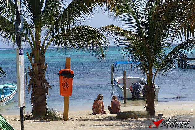 Tourist on the beach, Ambergris Caye