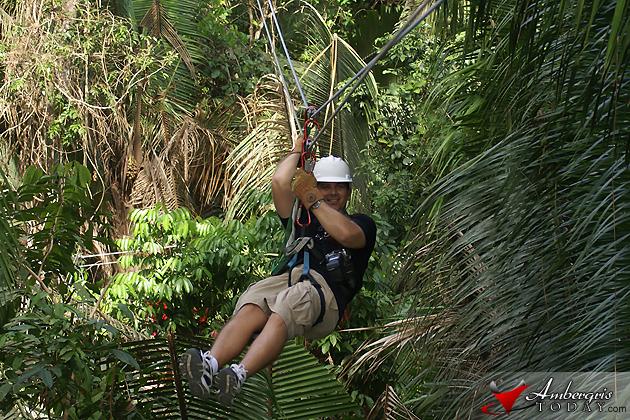 Ziplining throught he Belize Jungle