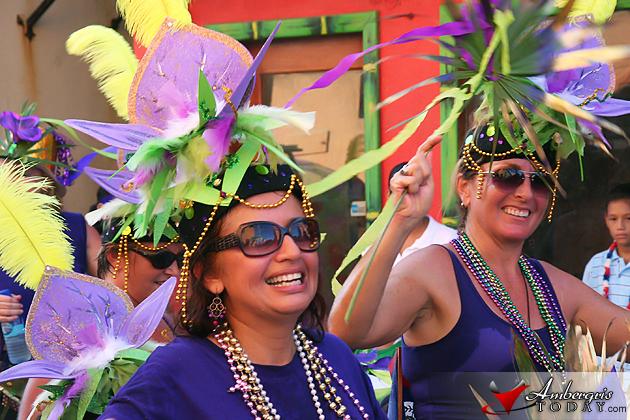 Island Academy on parade