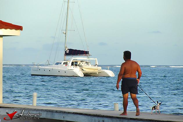 A walk up the pier, San Pedro, Belize