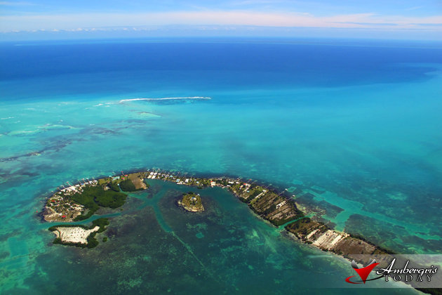View from the Friendly Skies of Belize overlooking the Great Caribbean Sea