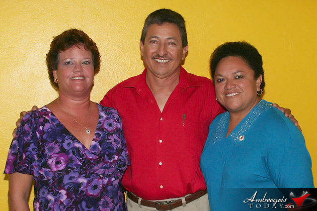 Melanie Paz (Independent Mayoral Candidate), Daniel Guerrero (United Democratic Party), Conchita Flota (People's United Party)