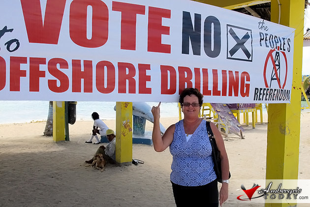 Voting on the People's Referendum on issue of Offshore Drilling in Belize