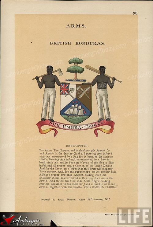 British Honduras Coat of Arms, Belize Flag, Bandera de Belice