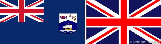 British Honduras Flag and the British Union Jack Flag