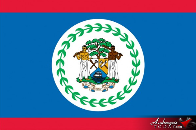 the blue white and red honoring our belizean flag ambergris